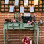 boda,decoración, rústico, vintage,seating plan maquina de escribir,novia, love,rincón de bienvenida, campestre