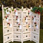 boda,decoración, romántico, naturaleza, vintage,seating plan,novia, biombo